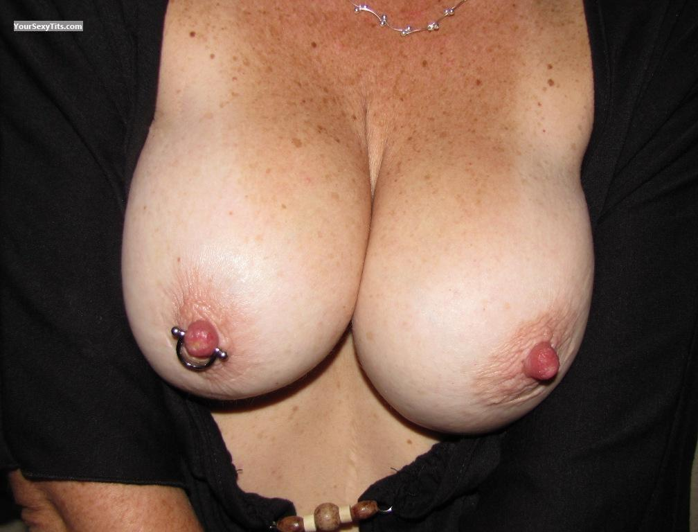 Tit Flash: Big Tits - Kerri from United StatesPierced Nipples